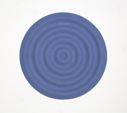 Rupert Deese, Four Wavelets No. 2, 1998, oil on plywood, 12 inches in diameter