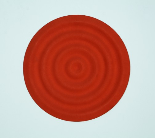 Rupert Deese, Four Wavelets No. 3, 1998, oil on plywood, 12 inches in diameter
