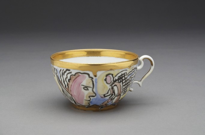 Viola Frey, Untitled (Cup) A La Manufacture de Sevres Series, 1988, ceramic, 2 x 4 x 3 inches