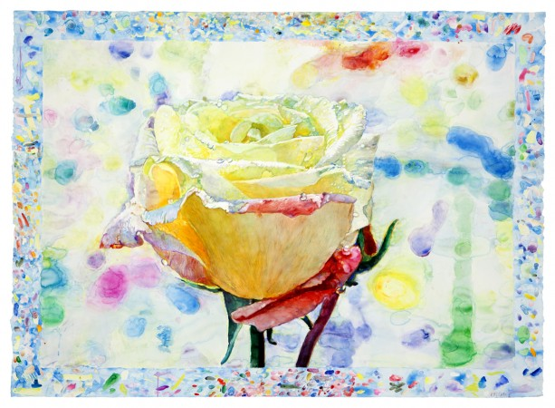 La Rose D'Ariane, 2014, watercolor on paper, 52.5 x 72 inches