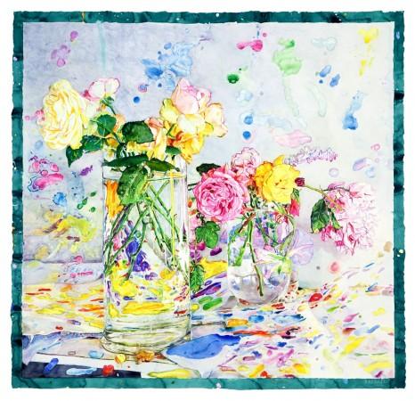 Primavera, 2014, watercolor on paper, 47 x 49 inches