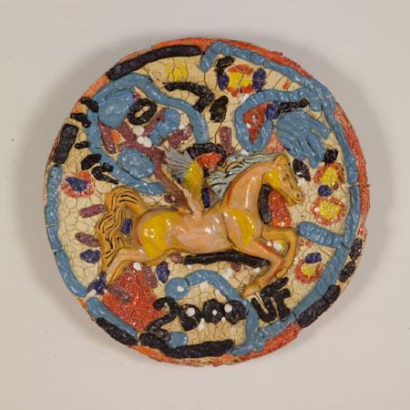 Pegasus, 2000, ceramic, 25 inches diameter