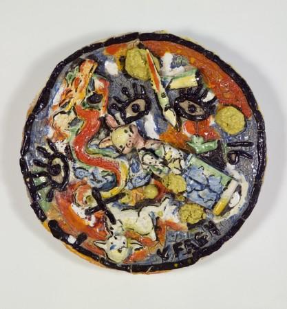 Untitled, 1991, ceramic, 25 inches in diameter