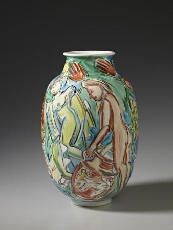Untitled (Vase) A La Manufacture de Sevres Series, ca.1988, ceramic, 10 x 7 x 7 inches