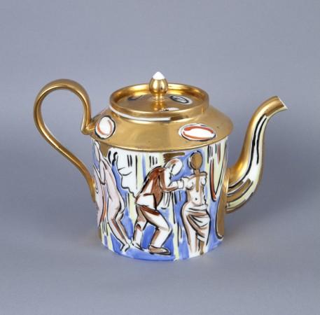 Untitled (Teapot) A la Manufacture de Sevres Series, 1988, ceramic, 4 x 8 x 5 inches