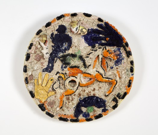 Untitled (Plate) , 1983, ceramic, 25 x 25 inches