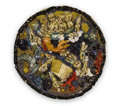 Untitled Plate #12, 1992, ceramic, 25 x 25 inches