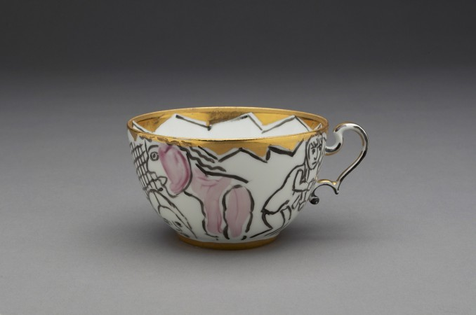 Untitled (Cup) A La Manufacture de Sevres Series, 1988, ceramic, 2 x 4 x 3.5 inches