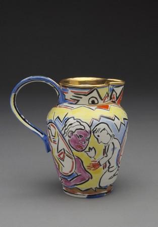 Untitled (Small Pitcher) A La Manufacture de Sevres Series, 1988, ceramic, 5 x 5 x 3.5 inches