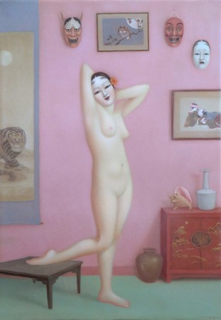 Colette Calascione, Miss Delusional, 2013-14, oil on panel, 12 x 18 inches