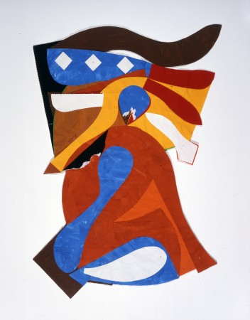 Fritz Bultman, Banner, 1979, painted papers, 28 x 20 inches