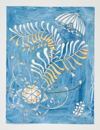 Katerina Lanfranco, Star Fern, 2014, acrylic on cut paper, 24 x 18 inches