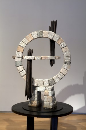 Monument for Time, 2010 stone, wood (steel base) 60 x 45 x 28 inches