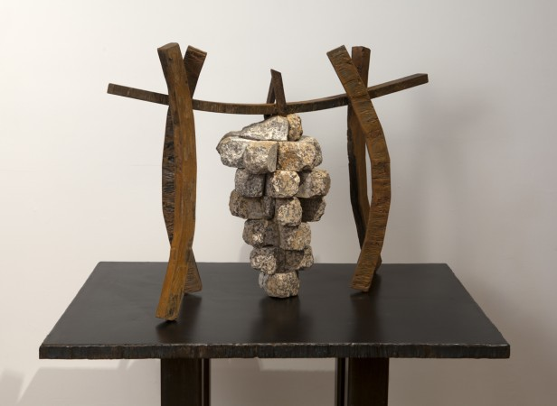 Grapes and Other Promises 2014 steel, stone 27 x 36 x 13 inches