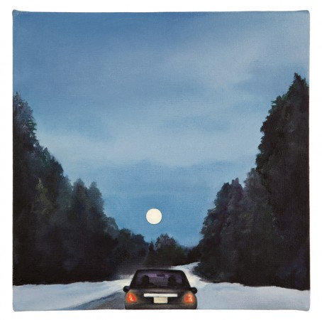 Traffic. Because everyone is staring at the moon. Hippie rage, 2013 oil on canvas 10 x 10