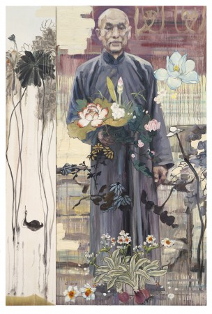 The Botanist, 2013 oil on canvas 96 x 54 inches