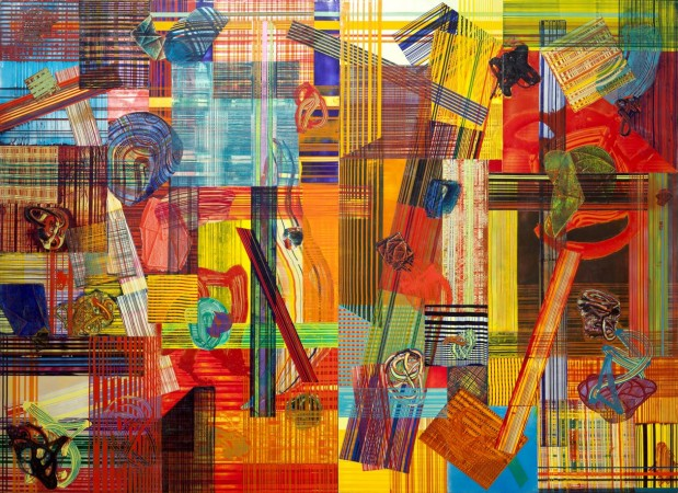 Frank Owen, Herald, 2012 acrylic on canvas 112 x 150 inches