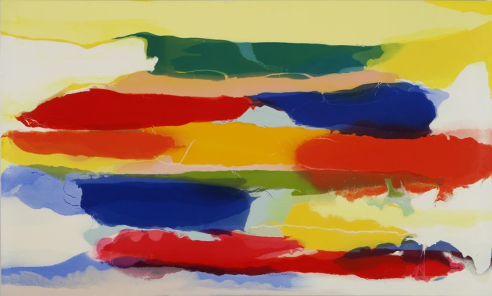 Lynn McCarty, Voice, 2011 oil on aluminum 37 x 62 inches