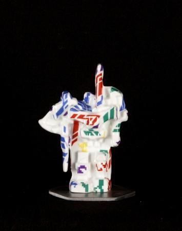 SLUSHERCAR #4, 2013 ceramic and steel 6 x 4 x 3 inches