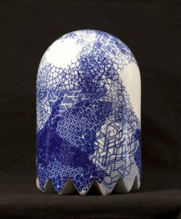 Neptune Ghost, 2013 ceramic 13 x 8 x8 inches