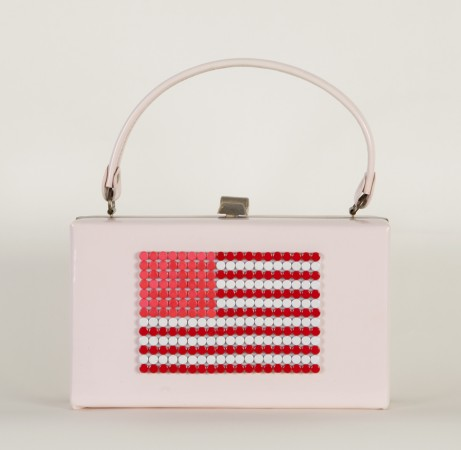 United We Stand (Purse) 2012 birth control pills on vintage purse 10 x 3 inches