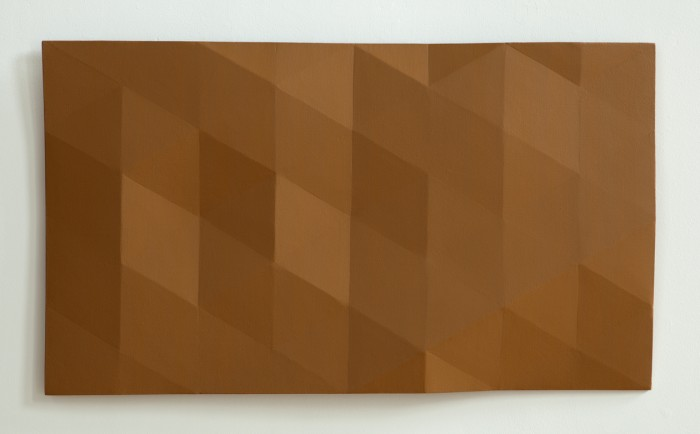 Kern River/19 (orange shade) 2012 oil on wood 22 x 39 inches