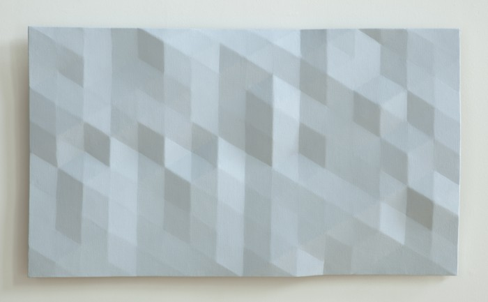 Kern River/23 (pale blue) 2012 oil on wood 23 x 39 inches