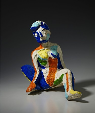Untitled (Seated Woman) 1985-86 ceramic 8 x 16 x 15 inches