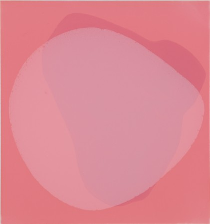 Lynn McCarty, Pink, 2012 oil on aluminum 18 x 17 inches