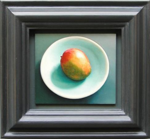 Lucy Mackenzie, Mango, 2004 oil on wood 3 x 3 inches