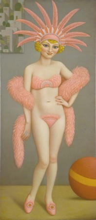 Gerty, 2008 oil on linen 55 x 24 inches