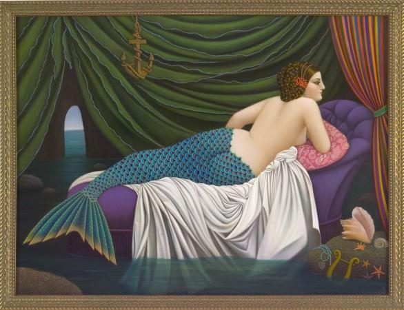 Amphitrite (mermaid) 2010 oil on panel 19 x 25 inches