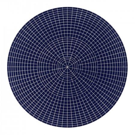 Array 1000 / Dark Blue, 2012 woodcut 45 x 45 inches Edition 2/20