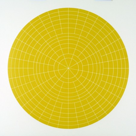Array 1000 / Yellow, 2012 woodcut 45 x 45 inches Edition 2/20
