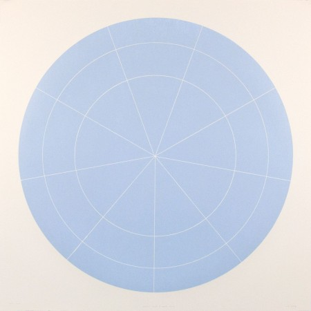 Array 1000 / Pale Blue, 2012 woodcut 45 x 45 inches Edition 2/20