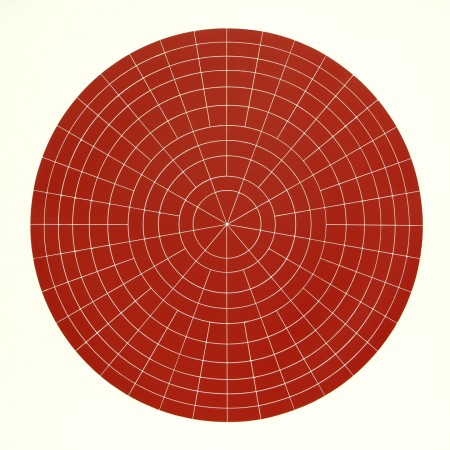 Array 1000 / Red, 2012 woodcut 45 x 45 inches Edition 2/20