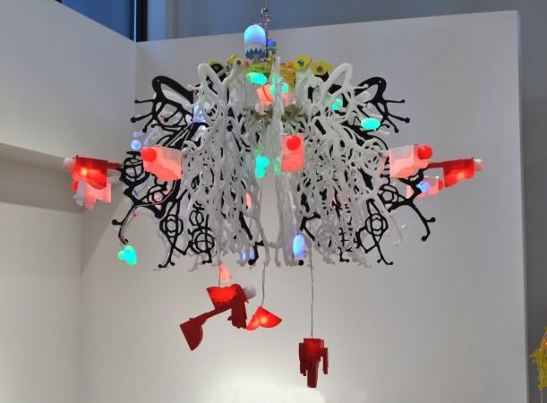 Cloud Robot's Revenge, 2011 plastic 36 x 35 x 35 inches