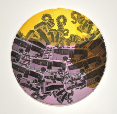See Level, 2011 ceramic 19 x 19 inches