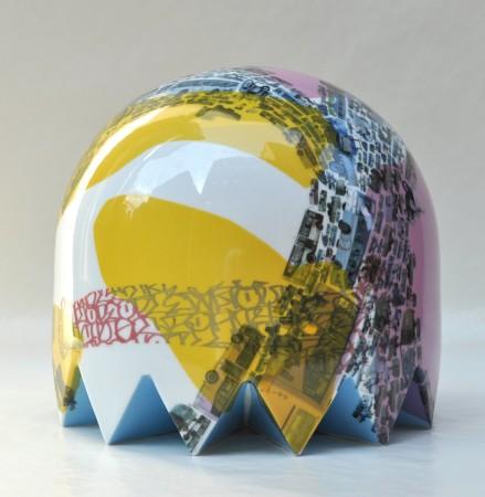 Bike Sunset Fat Ghost, 2011 ceramic 11 x 12 x 12 inches