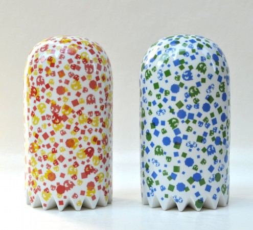 Jujyfruit Diptych, 2011 ceramic 11 x 6 x 6 inches each