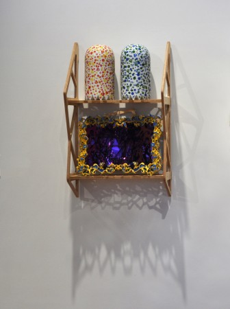Peacock Room III, 2011 ceramic and wood 31 x 19 inches