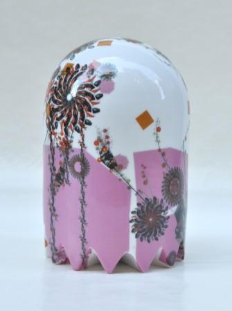 Pink Short Medium Ghost, 2011 ceramic 8 x 5 x 5 inches
