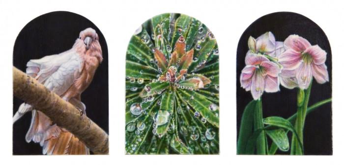 Watchful Garden, 2010 acrylic on panel 4 x 10 inches