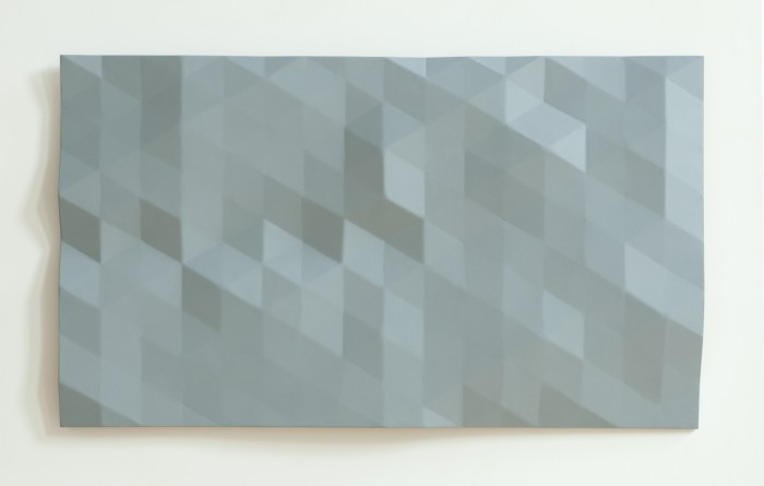 Rupert Deese, Kern River/10 (blue grey) 2008 oil on wood and fiberglass 35 x 61 inches
