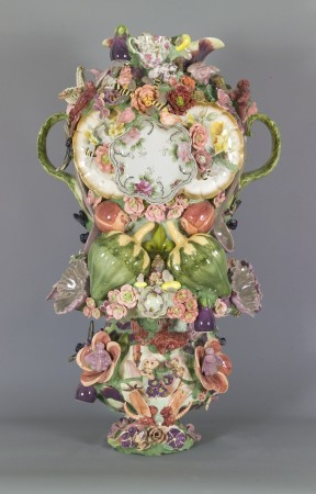 Joan Bankemper, Suzanna's Garden of Earthly Delights, 2009-10 ceramic, mixed media 40 x 22 inches