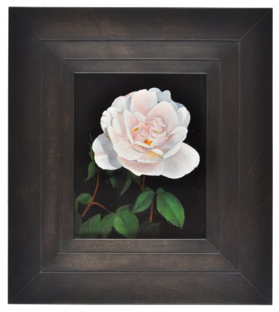 Michael Gregory, Untitled (rose) 2011 oil on panel 13 x 12 inches