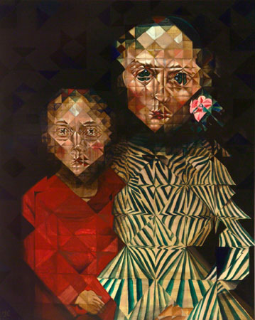 Mother and Son, 2010 acrylic on panel 20 x 16 inches