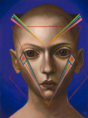 Aura of a Face, 2010 acrylic on panel 9 x 12 inches
