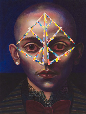 Transpersonal Perception, 2011 acrylic on panel 16 x 12 inches