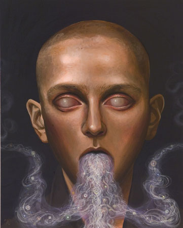 Ectoplasm Fantastique, 2011 acrylic on panel 20 x 16 inches